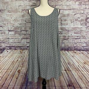 H&M Print Sleeveless Tunic Dress